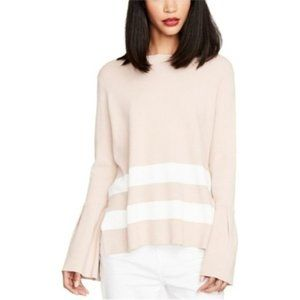 Rachel Roy Bell-Sleeve Tie-Back Sweater BlushEggsh